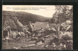 CPA Saint-Herbot, Le Curieux Et Très Ancien Moulin Du Rusquec - France