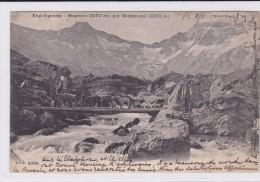 Ziege. Chèvre. Goat.. Troupeau Et Bergers Sur Pont De Bois. Engstligenalp Près Adelboden (CH) - Animaux & Faune