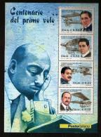 Italie Italia 2003 N° BF 35 ** Pionniers, Avion, Aviation, Invention, Biplan, Calderara, Cobianchi, Caproni, Marchetti - 6. 1946-.. Republic