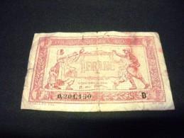 """FRANCE 1 Franc """"trésorerie Aux Armées"""" 1917, Pick N° M 2, FRANCIA FRENCH NOTE - 1917-1919 Trésorerie Aux Armées"""