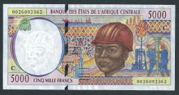 CONGO (Central African States) : 5000 Francs  - 2000 - UNC - Zonder Classificatie