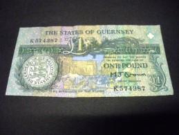 GUERNESEY 1 Pound 1991 - , Pick 52 A, GUERNSEY - Guernsey