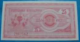 MACEDONIA 25 DENARI 1992, UNC, PICK-.2 - Macedonia