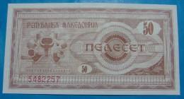 MACEDONIA 50 DENARI 1992, UNC, PICK-.3 - Macedonia