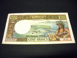 TERRITOIRE Français Du Pacifique, FRANCE ,100 Francs 1971, Pick N°63 A,FRENCH NOTE - Nouvelle-Calédonie 1873-1985