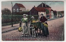 Belgique, Laitières En Route Pour La Ville, Attelage Chiens, Hondenkar (pk26755) - Marchands Ambulants