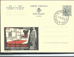 Publibel Obl. N° 1626A ( Robie Deville- Meubles; Statue De Anneessens) Obl: Ambulant: 07/06/1959 - Entiers Postaux