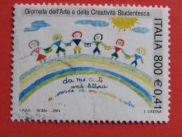 ITALIA USATI 2001 - GIORNATA ARTE CREATIVITÀ´ STUDENTESCA - SASSONE 2545 - RIF. G 1876 LUSSO - 6. 1946-.. Repubblica
