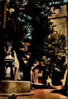 83-LA ROQUEBRUSSANNE..PLACE DE L'HORLOGE..CPSM GRAND FORMAT - La Roquebrussanne