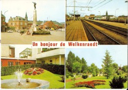 WELKENRAEDT (4840) : UN BONJOUR DE WELKENRAERDT. CPSM Multivues (4 VUES, Dont La Grand'Place Et La Gare). - Welkenraedt