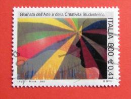 ITALIA USATI 2001 - GIORNATA ARTE CREATIVITÀ´ STUDENTESCA - SASSONE 2548 - RIF. G 1883 LUSSO - 6. 1946-.. Repubblica
