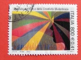 ITALIA USATI 2001 - GIORNATA ARTE CREATIVITÀ´ STUDENTESCA - SASSONE 2548 - RIF. G 1884 LUSSO - 6. 1946-.. Repubblica