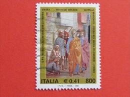 ITALIA USATI 2001 - MASACCIO - SASSONE 2549 - RIF. G 1886 LUSSO - 6. 1946-.. Repubblica