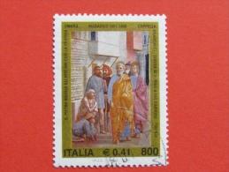 ITALIA USATI 2001 - MASACCIO - SASSONE 2549 - RIF. G 1887 LUSSO - 6. 1946-.. Repubblica