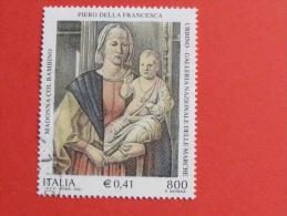 ITALIA USATI 2001 - Madonna Di Senigallia PIERO DELLA FRANCESCA - SASSONE 2550 - RIF. G 1890 LUSSO - 6. 1946-.. Repubblica