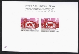 New Zealand Wine Post Numbered Presentation Card. - New Zealand