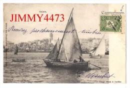 CPA POST CARD - CONTANTINOPLE ( ISTANBUL ) Turquie -  GALATA 1906  - Scans Recto-Verso - Edit. Max Fruchtermann - Turchia