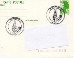 DIJON (COTE D'OR) : BANDE DESSINEE Oblitération Temporaire 1987 ASTERIX Sur Entier CARTE POSTALE - Bandes Dessinées