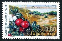 ST-PIERRE ET MIQUELON 2000 - Yv. 710 ** TB  Faciale= 0,58 EUR - Flore : La Graine Rouge ..Réf.SPM10975 - Neufs
