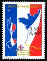 ST-PIERRE ET MIQUELON 1999 - Yv. 703 **   Faciale= 0,46 EUR - Visite Du Président CHIRAC ..Réf.SPM10959 - Unused Stamps
