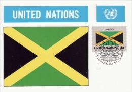 JAMAICA - 1983 - FLAG / Drapeau - United Nations UN Avec Timbre/Stamp De Collection (Rare) - Jamaïque