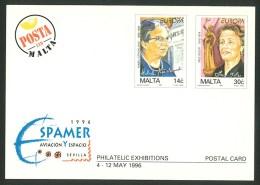Malta Sonderpostkarte P 35 - 1996