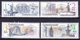 ** Tchécoslovaquie 1988 Mi 2961-4 (Yv 2771-4) Perforé - SPECIMEN, (MNH) Peu Courant - Errors, Freaks & Oddities (EFO)
