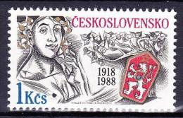 ** Tchécoslovaquie 1988 Mi 2939 (Yv 2750) Perforé - SPECIMEN, (MNH) Peu Courant - Errors, Freaks & Oddities (EFO)