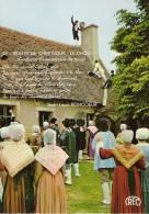 CP NEUVE - VEILLEE DE CHEZ NOUS - LES THIAULINS DE LIGNIERES N° 42 - Costumes