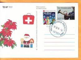 Croatia 2015 Y Postcard Overprint Red Cross Charity Stamp Solidarity  Postmark Zagreb 08.12. - Croatia