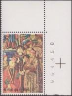 Belgique 1979 COB 1932-V1. Tapisserie Notre-Dame Du Sablon. Distribution De Lettres. Variété, Sourire. Timbre 6 - Textile