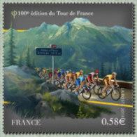 France N° 4758 ** Sport - Cyclisme. Centième Tour De France. Peleton à L'Alpe D'Huez - France