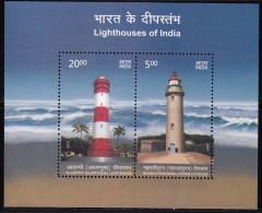 India MNH 2012,  Miniature, Lighthouses, Lighthouse Of Mahaballipuram, Allephey - Unused Stamps