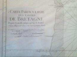 Costes De Bretagne De Granville Au Cap Frehel, Comme Elles Parois à Basse Mer - Carte De 1784 - - Cartes Marines