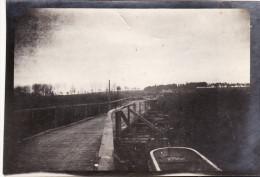 Photo Octobre 1914 ETERPIGNY (près Péronne) - Un Pont Militaire Sur La Somme (A125, Ww1, Wk 1) - France