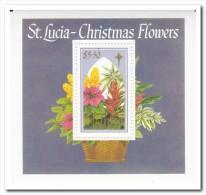 St. Lucia 1988, Postfris MNH, Flowers, Christmas - St.Lucia (1979-...)