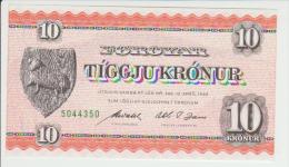 Faroe Island 10 Kronur 1949 Pick 14d UNC - Islas Faeroes