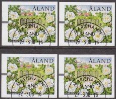 ALAND 2008 ATM Frama Vending Machine Labels - Perfect Cancelled Condition - Ålandinseln