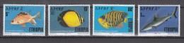 Ethiopia 1991,4V,set,birds,vogels,vögel,oiseaux,pajaros,uccelli,aves,MNH/Postfris(A2049) - Fishes