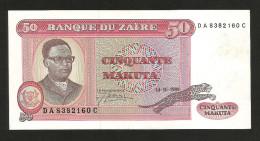 ZAIRE - BANQUE Du ZAIRE - 50 MAKUTA (1980) - Zaire