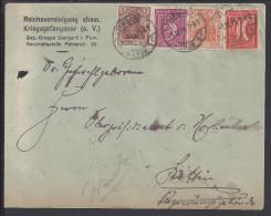 """POLOGNE - 1921 -  ENVELOPPE """" ASSOCIATION DES ANCIENS PRISONNIERS DE GUERRE DE STARGARD """" - 1919-1939 Republic"""