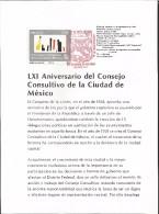 E)  1990 MEXICO, ART, LXI ANNIVERSARY OF THE ADVISORY COUNCIL OF THE CITY OF MEXICO, FDB - Mexico