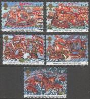 Great Britain. 1988 400th Anniv Of Spanish Armada. Used Complete Set. SG 1400-1404 - 1952-.... (Elizabeth II)