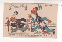 Carte Postale HUMOUR   ALCOOL EST TON ENNEMI CELUI QUI FUIT SON ENNEMI EST UN LACHE Illustrateur  JEAN DE PREISSAC - Humour