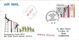 Korea Corea 2015 Gyeongnam Military World Games CISM FDC Cover - Korea (Zuid)