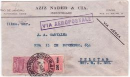 1931- Enveloppe De Rio Pour Pelotas Par L´Aéropostale  - Affr. à 700 Reis - Brasile