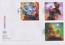 United Nations Cancellations Vienna, Geneva And NY - 2013 - FDC Blocks Space: Nebulae - Gezamelijke Uitgaven New York/Genève/Wenen