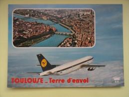 CARTE POSTALE POSTCARD AIRBUS A300 LUFTHANSA - 1946-....: Moderne