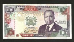 KENYA - CENTRAL BANK Of KENYA - 100 SHILLINGS (1991) - D. TOROITICH ARAP MOI - Kenia