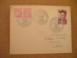 Journée Rabelais St Maur Des Fossés 8/10/1950 - Marcophilie (Lettres)